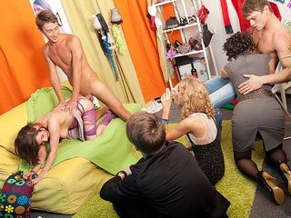 College orgy with sexy girls